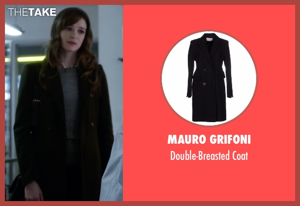 Mauro Grifoni black coat from The Flash seen with Caitlin Snow / Killer Frost (Danielle Panabaker)