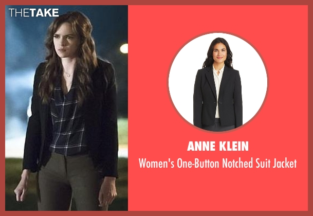 Anne Klein black jacket from The Flash seen with Caitlin Snow / Killer Frost (Danielle Panabaker)