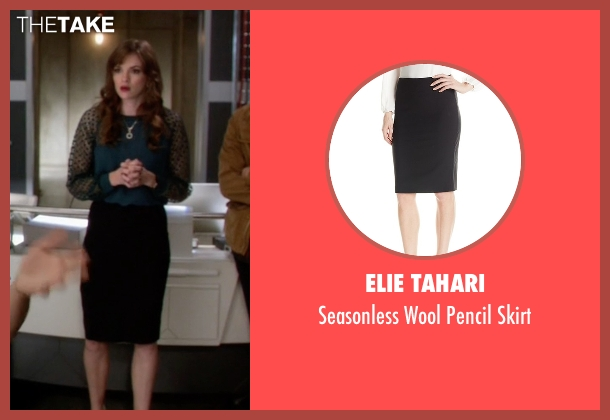 Elie Tahari black skirt from The Flash seen with Caitlin Snow / Killer Frost (Danielle Panabaker)
