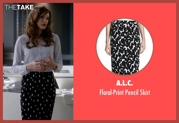 A.L.C. black skirt from The Flash seen with Caitlin Snow / Killer Frost (Danielle Panabaker)