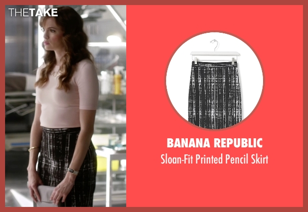 Banana Republic black skirt from The Flash seen with Caitlin Snow / Killer Frost (Danielle Panabaker)