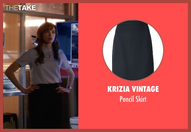 Krizia Vintage black skirt from The Flash seen with Caitlin Snow / Killer Frost (Danielle Panabaker)