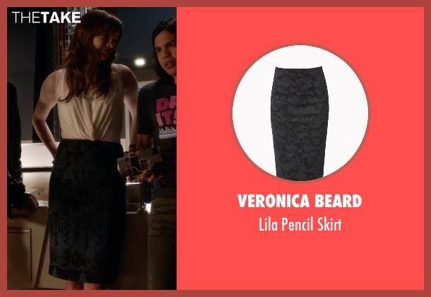 Veronica Beard black skirt from The Flash seen with Caitlin Snow / Killer Frost (Danielle Panabaker)