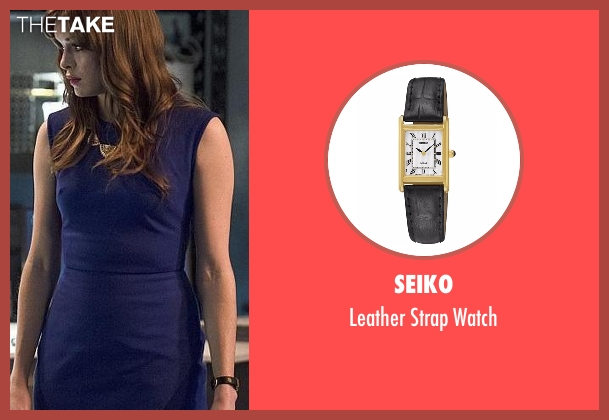 Seiko black watch from The Flash seen with Caitlin Snow / Killer Frost (Danielle Panabaker)