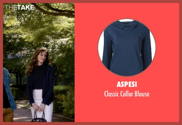 Aspesi blue blouse from The Flash seen with Caitlin Snow / Killer Frost (Danielle Panabaker)