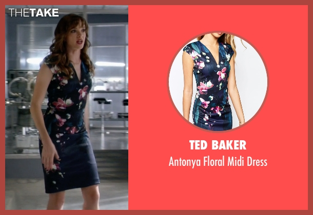 Ted Baker blue dress from The Flash seen with Caitlin Snow / Killer Frost (Danielle Panabaker)