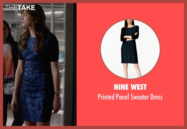 Nine West blue dress from The Flash seen with Caitlin Snow / Killer Frost (Danielle Panabaker)