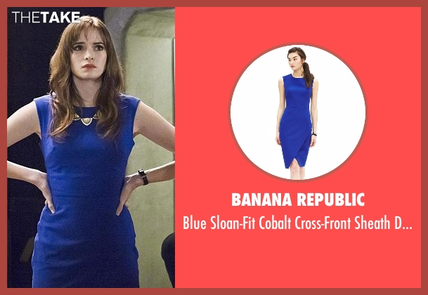 Banana Republic blue dress from The Flash seen with Caitlin Snow / Killer Frost (Danielle Panabaker)