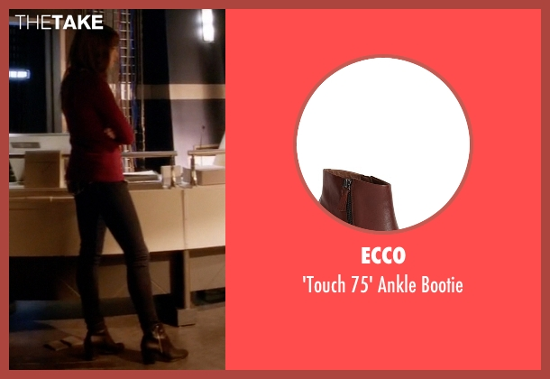 Ecco brown bootie from The Flash seen with Caitlin Snow / Killer Frost (Danielle Panabaker)