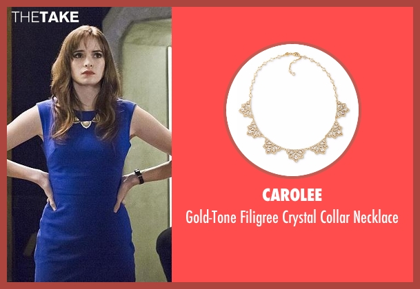 Carolee gold necklace from The Flash seen with Caitlin Snow / Killer Frost (Danielle Panabaker)