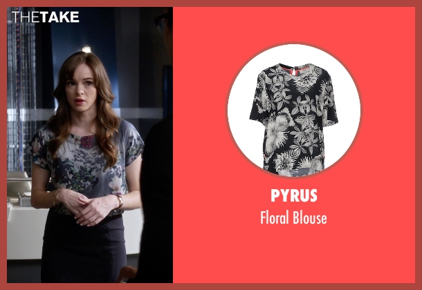 Pyrus gray blouse from The Flash seen with Caitlin Snow / Killer Frost (Danielle Panabaker)