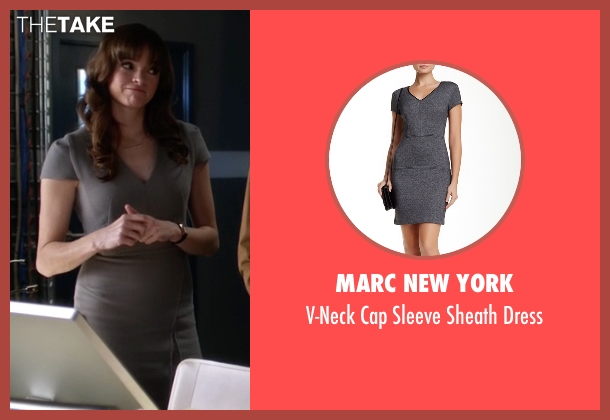 Marc New York gray dress from The Flash seen with Caitlin Snow / Killer Frost (Danielle Panabaker)
