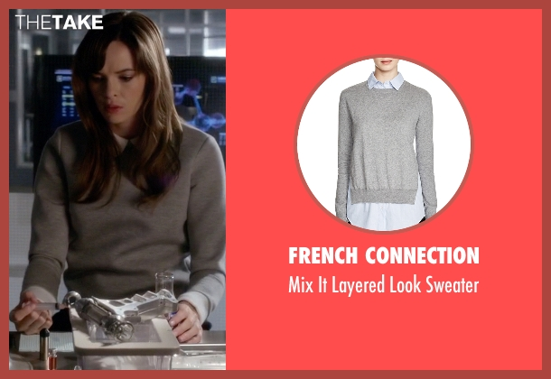 French Connection gray sweater from The Flash seen with Caitlin Snow / Killer Frost (Danielle Panabaker)