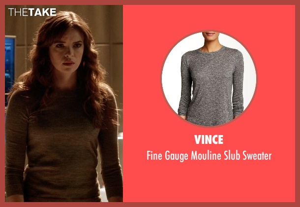 Vince gray sweater from The Flash seen with Caitlin Snow / Killer Frost (Danielle Panabaker)