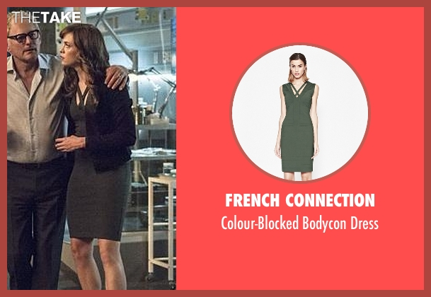 French Connection green dress from The Flash seen with Caitlin Snow / Killer Frost (Danielle Panabaker)