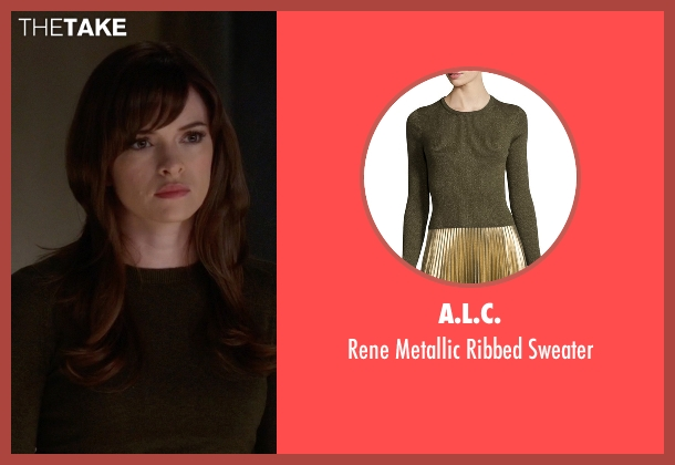 A.L.C. green sweater from The Flash seen with Caitlin Snow / Killer Frost (Danielle Panabaker)