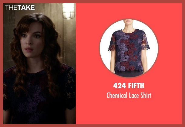 424 Fifth purple shirt from The Flash seen with Caitlin Snow / Killer Frost (Danielle Panabaker)