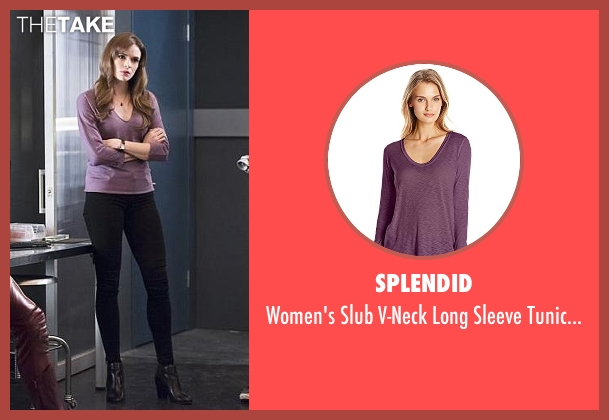 Splendid purple top from The Flash seen with Caitlin Snow / Killer Frost (Danielle Panabaker)