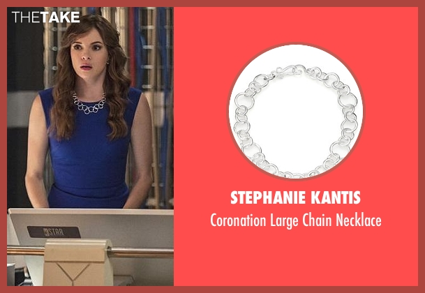 Stephanie Kantis silver necklace from The Flash seen with Caitlin Snow / Killer Frost (Danielle Panabaker)