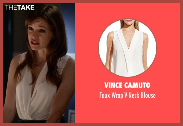 Vince Camuto white blouse from The Flash seen with Caitlin Snow / Killer Frost (Danielle Panabaker)