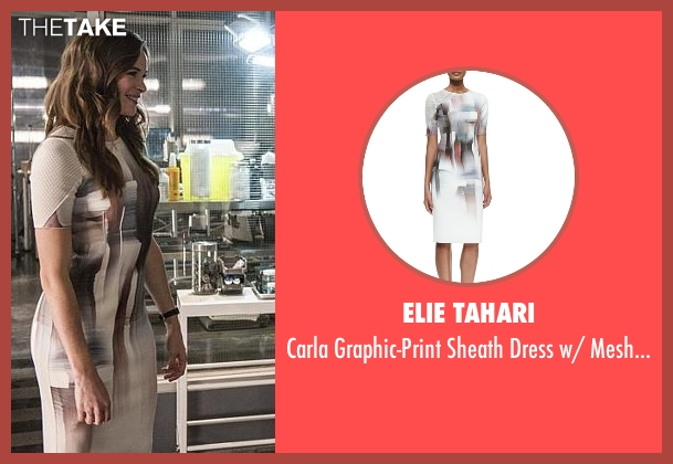 Elie Tahari white sleeve from The Flash seen with Caitlin Snow / Killer Frost (Danielle Panabaker)