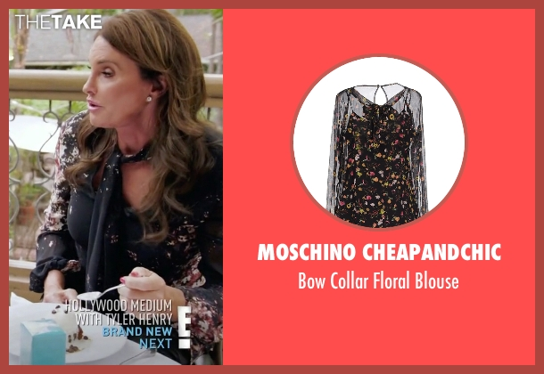 Moschino Cheapandchic black blouse from Keeping Up With The Kardashians seen with Caitlyn Jenner