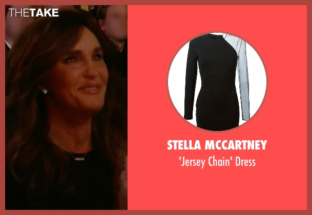 Stella McCartney black dress from Keeping Up With The Kardashians seen with Caitlyn Jenner