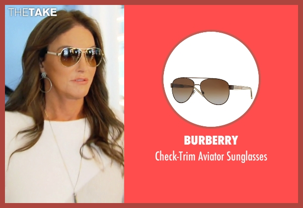 Burberry brown sunglasses from Keeping Up With The Kardashians seen with Caitlyn Jenner