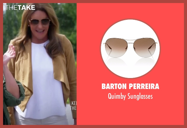 Barton Perreira gold sunglasses from Keeping Up With The Kardashians seen with Caitlyn Jenner