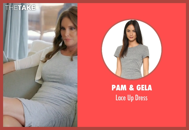 Pam & Gela gray dress from Keeping Up With The Kardashians seen with Caitlyn Jenner