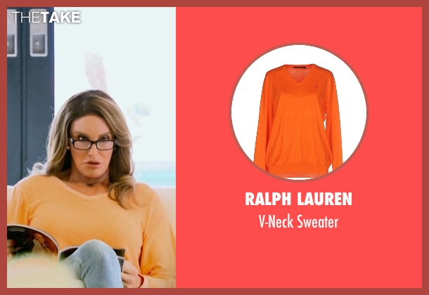 Ralph Lauren orange sweater from Keeping Up With The Kardashians seen with Caitlyn Jenner