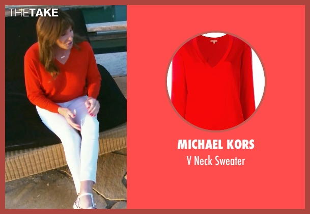 Michael Kors red sweater from Keeping Up With The Kardashians seen with Caitlyn Jenner