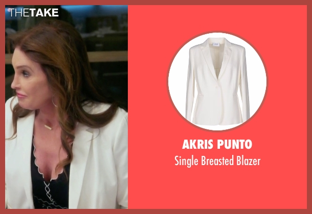 Akris Punto white blazer from Keeping Up With The Kardashians seen with Caitlyn Jenner