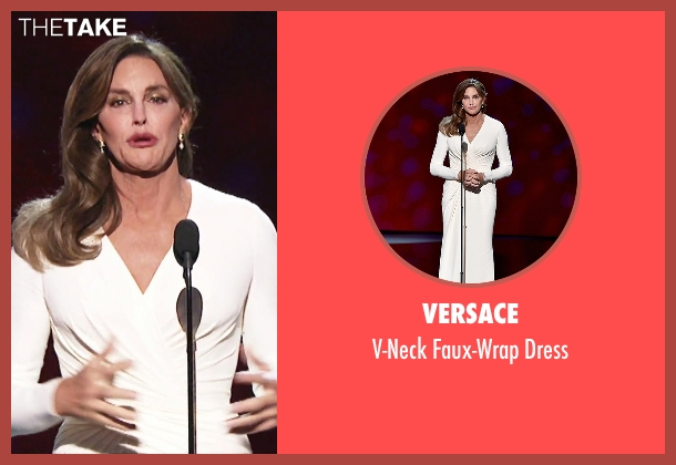 Versace white dress from Keeping Up With The Kardashians seen with Caitlyn Jenner