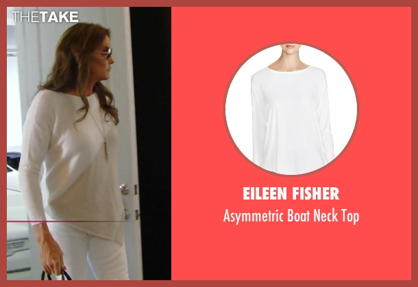 Eileen Fisher white top from Keeping Up With The Kardashians seen with Caitlyn Jenner