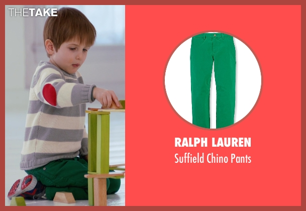 Ralph Lauren green pants from Adult Beginners seen with Caleb and Matthew Paddock (Teddy)