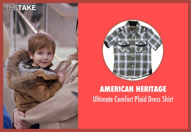 American Heritage green shirt from Adult Beginners seen with Caleb and Matthew Paddock (Teddy)