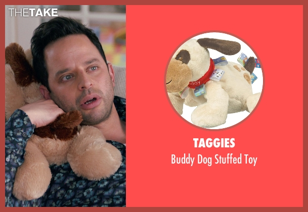 Taggies toy from Adult Beginners seen with Caleb and Matthew Paddock (Teddy)