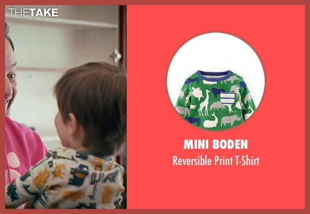 Mini Boden white t-shirt from Adult Beginners seen with Caleb and Matthew Paddock (Teddy)