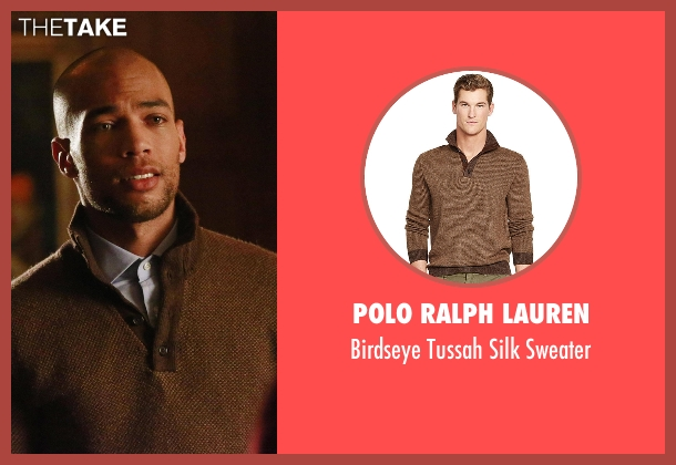 Polo Ralph Lauren brown sweater from How To Get Away With Murder seen with Caleb Hapstall (Kendrick Sampson)