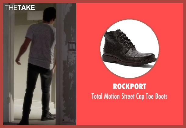 Rockport black boots from Pretty Little Liars seen with Caleb Rivers (Tyler Blackburn)