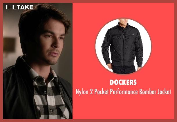 Dockers black jacket from Pretty Little Liars seen with Caleb Rivers (Tyler Blackburn)