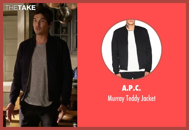 A.P.C. black jacket from Pretty Little Liars seen with Caleb Rivers (Tyler Blackburn)