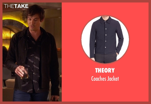 Theory black jacket from Pretty Little Liars seen with Caleb Rivers (Tyler Blackburn)