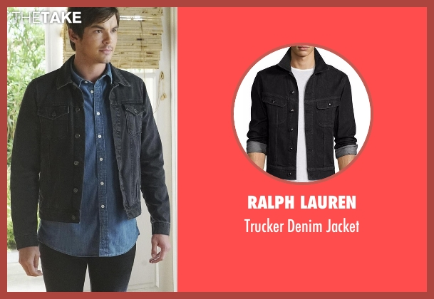 Ralph Lauren black jacket from Pretty Little Liars seen with Caleb Rivers (Tyler Blackburn)