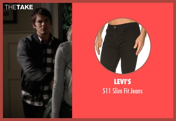 Levi's black jeans from Pretty Little Liars seen with Caleb Rivers (Tyler Blackburn)