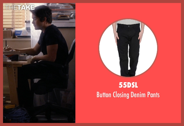 55DSL black pants from Pretty Little Liars seen with Caleb Rivers (Tyler Blackburn)