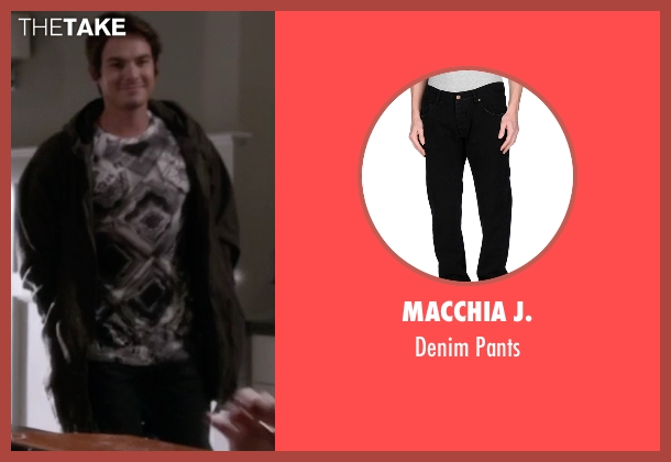 Macchia J. black pants from Pretty Little Liars seen with Caleb Rivers (Tyler Blackburn)