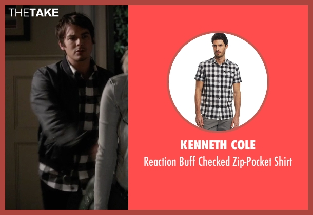 Kenneth Cole black shirt from Pretty Little Liars seen with Caleb Rivers (Tyler Blackburn)