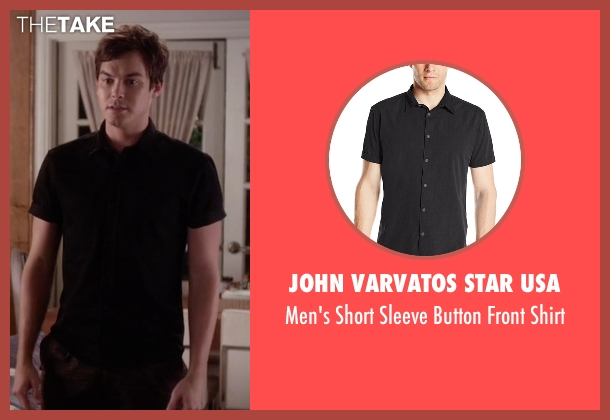John Varvatos Star USA black shirt from Pretty Little Liars seen with Caleb Rivers (Tyler Blackburn)